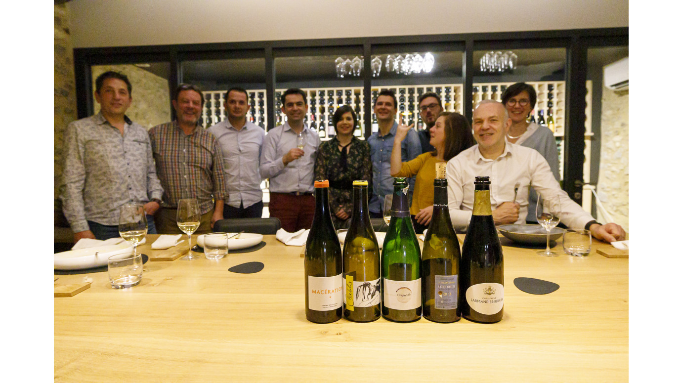 Meal Tasting at the end of the year Terra Vita Vinum team
