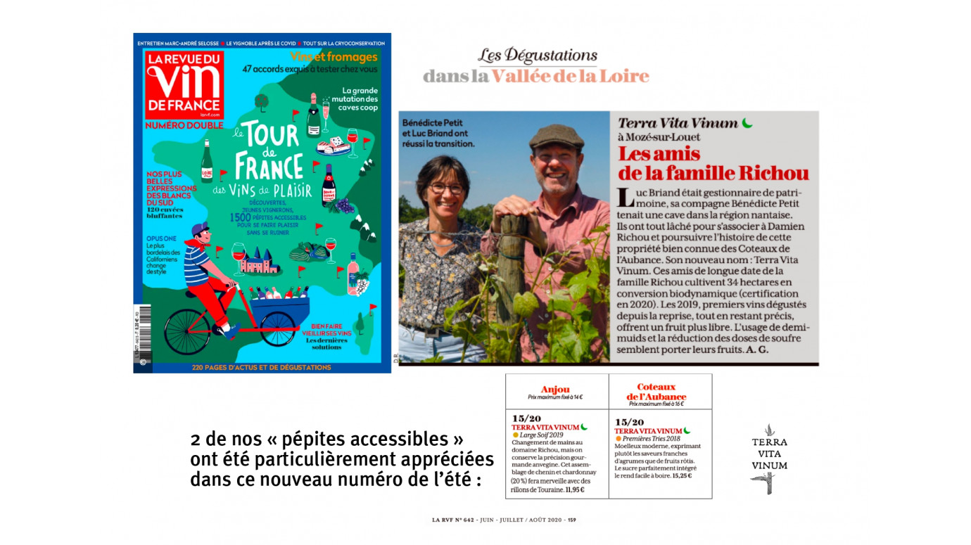Terra Vita Vinum in the Revue du Vin de France - July 2020
